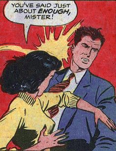 """Comic Girls Say.. """" You've said just about enough mister ! """"  #comic #popart #vintage"""