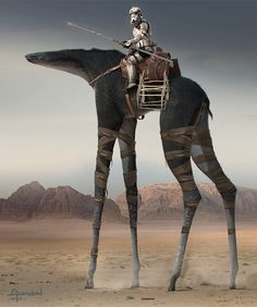 "An Exclusive Look Inside the Gorgeous Art of Rogue One: Jedha ""Camel"" Full Body Version 55/ Alzmann. The Art of Rogue One: A Star Wars Story by Josh Kushins, and Lucasfilm Ltd. © Abrams Books, 2016(C) 2016 Lucasfilm Ltd. And TM. All Rights Reserved. Used Under Authorization"