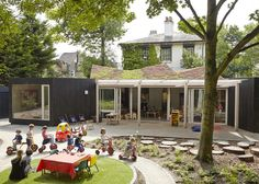 Bringing nature and students together: School HUB/ outdoor classroom or event area: Montpelier Community Nursery by AY Architects