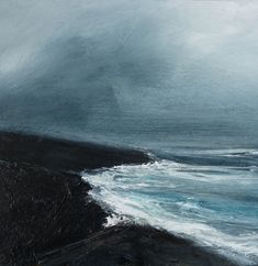 - 2016 Ruth Brownlee - All Rights Reserved (Worldwide) Blue Abstract Painting, Seascape Paintings, Abstract Landscape, Landscape Paintings, Waves Photography, Costa, Art For Art Sake, Beach Art, Painting Inspiration