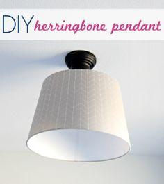 IHeart Organizing: Preston's Bedroom Update: DIY Herringbone Pendant