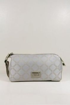 Versace Handbags Beige Canvas and Leather DL23004 (Pouch)