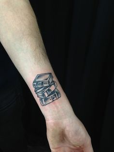 Little stack of books on Gregg! Super fun.  By Kirsten Holliday, Icon Tattoo, Portland, OR http://www.kirstenholliday.com