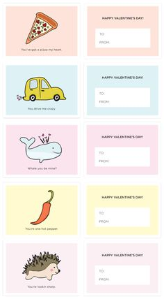 Download and Print Punny Valentine's Day Cards