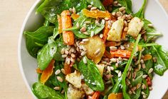 Spinach Fruit and Nut Salad (Your skin will LOVE this recipe)