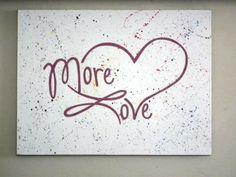 More love #uppercaseliving #art #homedecor #vinyl #inspiration #wallwords #decals #beckymasson #love