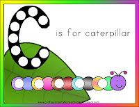 Letter C activities - caterpillar
