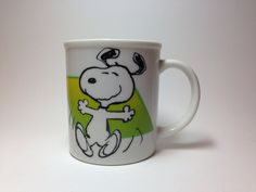 Vintage Snoopy Mug, to live is to dance, to dance is to live. on Etsy, $7.50