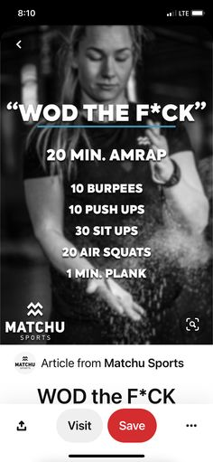 Crossfit Workouts At Home, Crossfit Body, Fit Board Workouts, Fun Workouts, Strength And Conditioning Workouts, Hotel Workout, Amrap Workout, Workout Programs, Just In Case