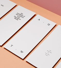Love the beauty in the simplicity of this set ❤ print design, graphic design, branding, stationery, design inspiration Corporate Design, Brand Identity Design, Branding Design, Identity Branding, Minimal Business Card, Business Card Design, Material Design, Bussiness Card, Stationery Design