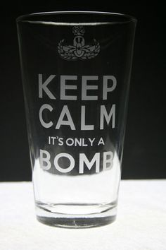 Keep Calm EOD Beer Glass by UnCorkdArt on Etsy, $5.00