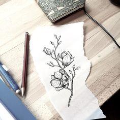 [ magnolia ] Caitlin Thomas - Lucid Lines Adelaide tattoo idea Hirsch Tattoo, Los Mejores Tattoos, Tattoo Schwarz, Tatuajes Tattoos, Tatoos, Neue Tattoos, Botanical Tattoo, Desenho Tattoo, Sister Tattoos