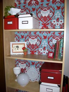 """Perfect inspiration for a bookshelf that I need to """"repurpose""""!"""