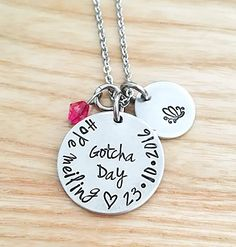 Gotcha day Necklace, Personalized Adoption Necklace, Gift for Adoption Adoption Gifts, Adoption Day, Parent Gifts, Nurse Gifts, Adoption Baby Shower, Gotcha Day, Adoptive Parents, Gifts For Brother, Dog Tag Necklace