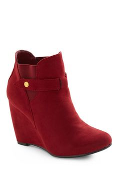 I own this: What is hotter than a red vegan suede wedge?