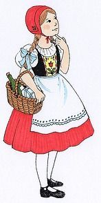 'Children fairy tale characters Famous German Girl Little Red Riding Hood Story' Sticker by greengoodnich - Kinderbetreuung