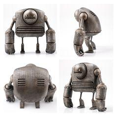 Robot designer toys from Just Robots. #toys #designer #designertoys #metal #justrobots