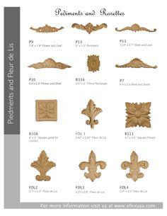 Pediments and Rosettes