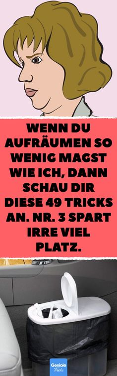 Wenn du Aufräumen so wenig magst wie ich, dann schau dir diese 49 Tricks an. Nr… If you like cleaning up as little as I do, then look at these 49 tricks. No. 3 saves a lot of space. 47 times order in the household.