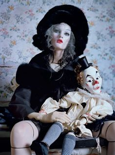 """The Terrier and Lobster: """"Mechanical Dolls"""": Kirsi Pyrhonen and Audrey Marnay by Tim Walker for Vogue Italia"""