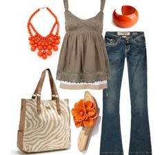 Summer fashion I love that every outfit now always has a fabulous necklace and bracelet.