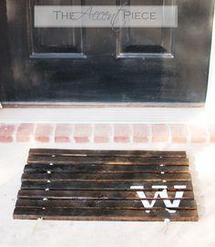 wooden door mat - how to