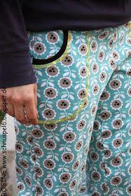 ...in kurz! Die tolle Freizeithose von Lillesol & Pelle kann man auch in kurz nähen! Und da Mama immer Taschen braucht - für Taschentü...