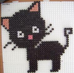 Cat hama beads by Les loisirs de Pat