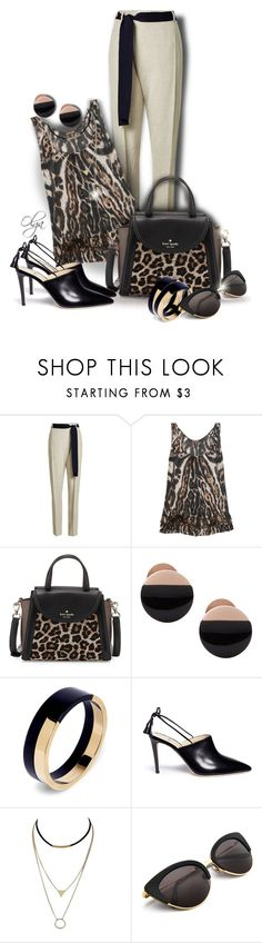 """""""Leopard Print"""" by olga1402 ❤ liked on Polyvore featuring Victoria Beckham, Roberto Cavalli, Kate Spade, Skagen, Marni and Alexander White"""