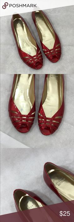 Stuart Weitzman red patent leather sandals - Size 9.5 - I don't trade or sell outside of posh. - I ship every single day!  - All items come from a smoke free home!  - If you have anymore questions just let me know and I would be happy to help! 🙂 Stuart Weitzman Shoes Sandals