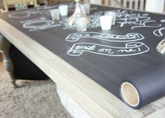 Oh....I would just love this sooo much!   Wonder if I can hint enough for Christmas!!  Chalkboard Table Runner