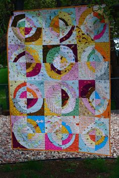 a quilt is nice: scrappy circles quilt