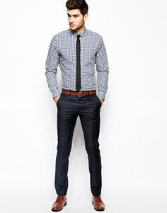 #ASOS Smart Shirt In Long Sleeve With Gingham Check $38