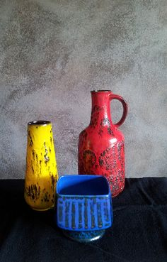 Primary color vases