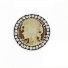 Round Shape Cameo Design Pin #032589 Arif's Collection. $16.85. pins and brooches