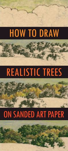 How to Draw Realistic Trees on Sanded Art Paper using Colored Pencils Drawing Lessons, Painting Lessons, Drawing Techniques, Drawing Tips, Realistic Drawings, Easy Drawings, Pencil Drawings, Pastel Pencils, Colored Pencils