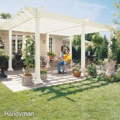 DIY:  How to Build a Pergola - excellent tutorial shows every step on how this was built - via Family Handyman