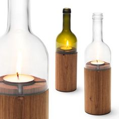 Wine candle holders