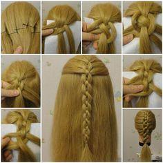 DIY Braided Chain Pigtail Hairstyle | iCreativeIdeas.com LIKE Us on Facebook ==> https://www.facebook.com/icreativeideas