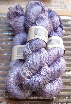 Kettle Yarn Co. Pre-order ---ISLINGTON - sw BFL / Silk fingering ...'Prunella' purple