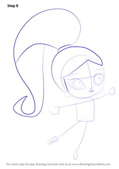 how to draw shimmer and shine step by step