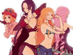 One Piece, Koala, Boa Hancock, Nami, Perona