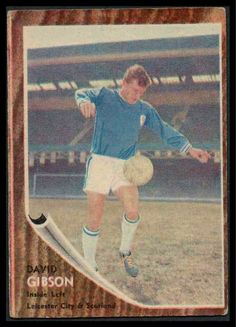David Gibson of Leicester City in David Gibson, Leicester, 1960s, Football, Baseball Cards, City, Sports, Soccer, Hs Sports