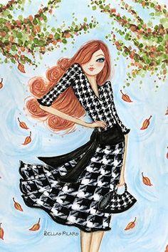 "Best dress ""Houndstooth"" By Bella Pilar Canvas Print #BPR26"