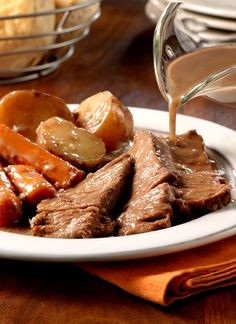 Slow Cooker Savory Pot Roast – Put this recipe together in the morning, and when it's time for dinner, it's done. The results? Mouthwatering!