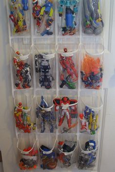 Over the Door Toy Storage | Click Pic for 12 Clever Space Saving Ideas for Small Bedrooms | DIY Storage Ideas for Small Bedrooms