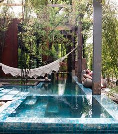 I just like the hammock over the pool. And that is a sweet pool.