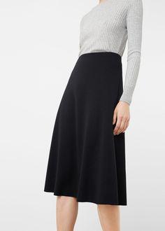 Flared midi skirt - Skirts for Woman | MANGO Canada