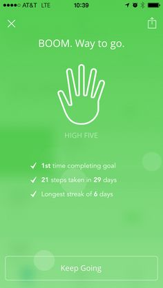 Love this high five feature from Lift App User Interface Design, Ui Ux Design, User Experience Design, High Five, App Ui, Mobile App, Ios, Give Me 5, Mobile Applications
