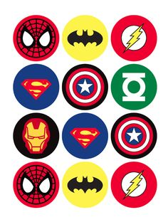 The Avengers Superhero Cupcake Toppers - Batman Printables - Ideas of Batman Printables - 12 rounds per sheet. Ships to US territory only. School Birthday, 4th Birthday Parties, Boy Birthday, Birthday Cupcakes, Birthday Ideas, Super Hero Birthday, Party Cupcakes, Birthday Images, Boys Cupcakes